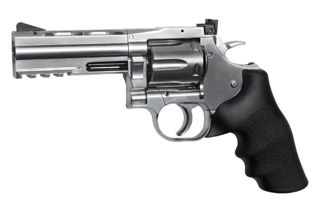 Revolver Airsoft Dan Wesson 715 CO2 4\'\' Chrome Full Metal CO2