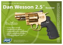 REVOLVER DAN WESSON CO2 2,5\'\' GOLD FULL METAL HI-POWER 1,4J