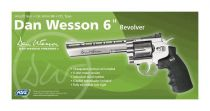 REVOLVER DAN WESSON CO2 6\'\' CHROME FULL METAL LOW-POWER 1J