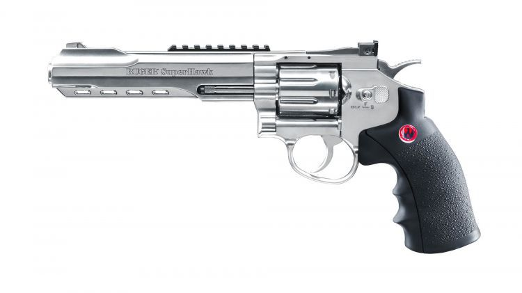 REVOLVER RUGER SUPER HAWK CHROME 6\'\' CO2 3 JOULES