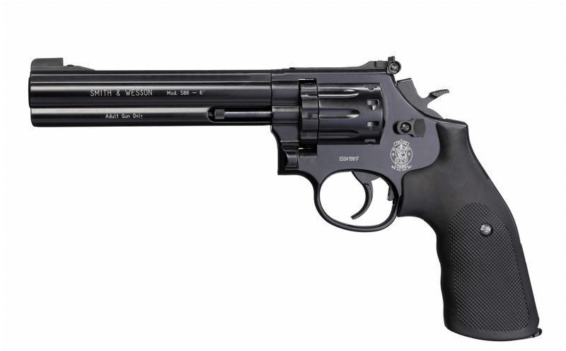 REVOLVER S&W CO2 586 6 POUCES FULL METAL PLOMB 4,5