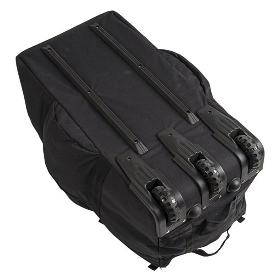 Sac commando 118 L Mil-Tec Noir avec roulettes de transport