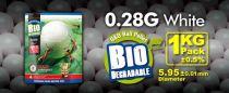 SACHET DE 1 KG 3500 BILLES BIO G&G 0.28 G