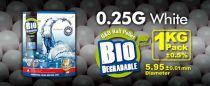 SACHET DE 1 KG 4000 BILLES BIO G&G 0.25 G