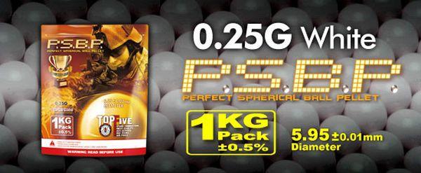 SACHET DE 1 KG 4000 BILLES G&G 0.25 G