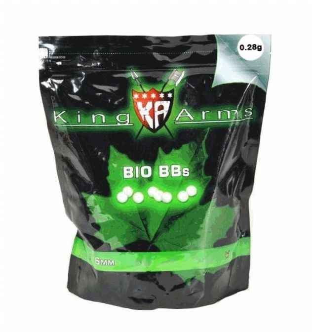 SACHET DE 3600 BILLES BIO 0.28 G KING ARMS