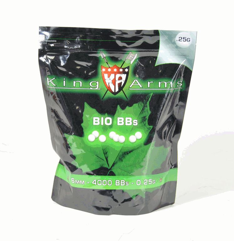 SACHET DE 4000 BILLES BIO 0.25 GR KING ARMS