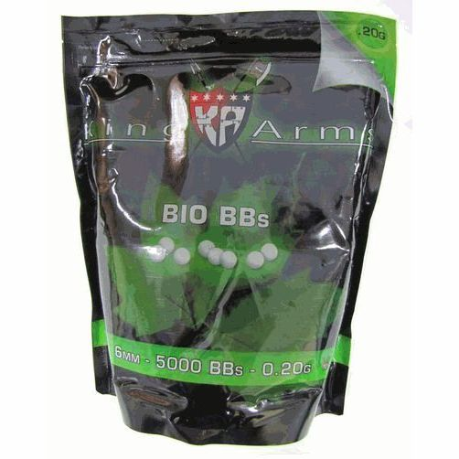 SACHET DE 5000 BILLES BIO 0,20 G KING ARMS
