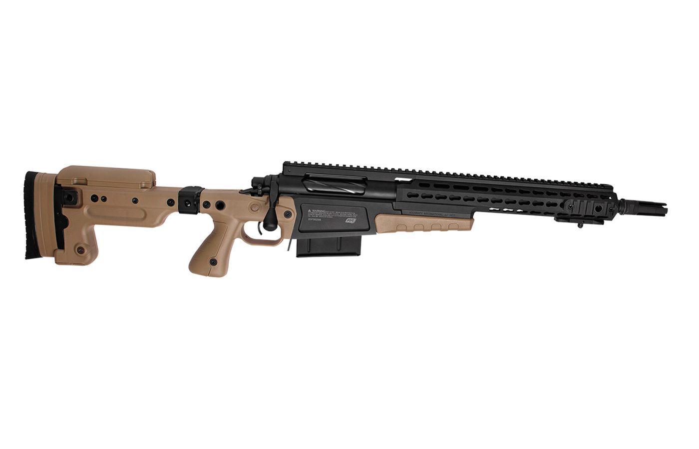 Sniper Airsoft Spring Accuracy International MK13 Compact Noir et Tan