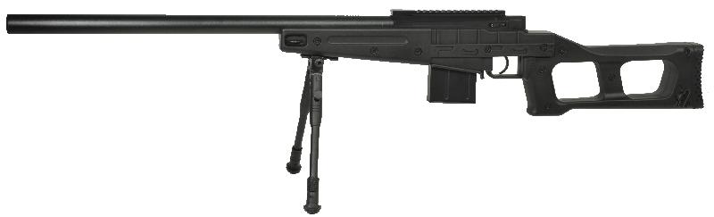 Sniper Swiss Arms Airsoft SAS 08 Noir avec bi-pieds chargeur 40BB\'s