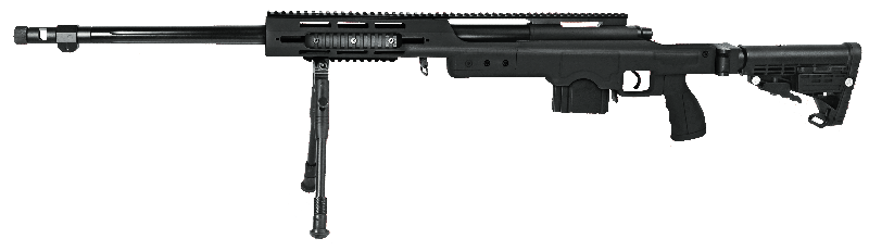 Sniper Swiss Arms Airsoft SAS 12 NOIR avec bipieds chargeur 40BB\'s
