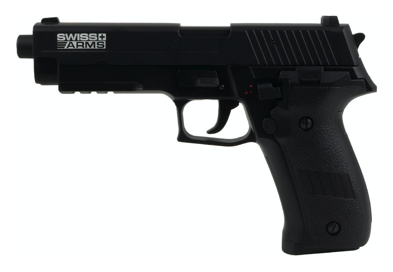 Swiss Arms Navy Pistol AEP Ni-Mh culasse métal Noir