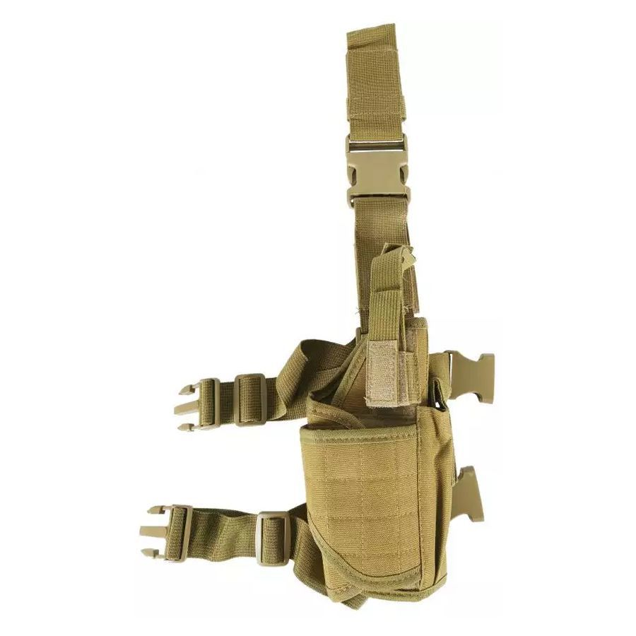 Tactical Holster de cuisse modulable droitier Tan