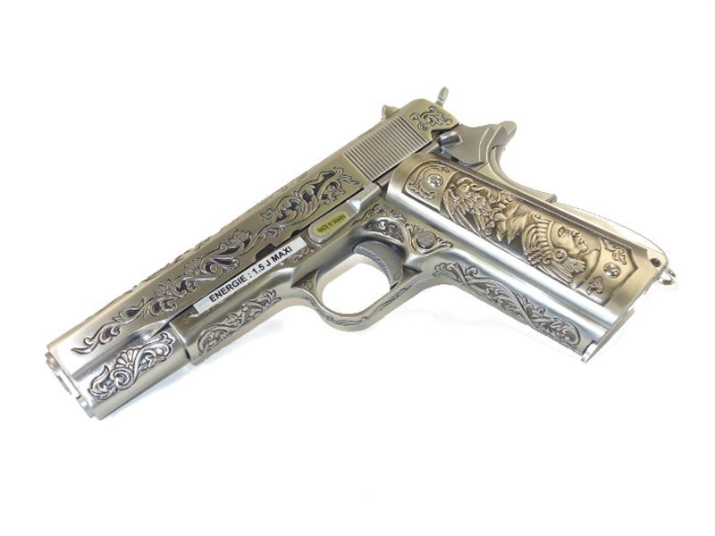 WE 1911 SILVER CLASSIC FLORAL PATTERN GBB