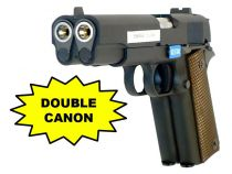 WE DUELLER 1911 DOUBLE CANON NOIR GBB