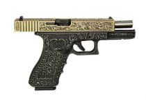 WE G17 CLASSIC FLORAL PATTERN IVORY GAZ BLOWBACK 0.9 JOULES