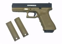 WE G17 GENERATION 4 TAN + NOIR BLOWBACK 0.9 JOULES