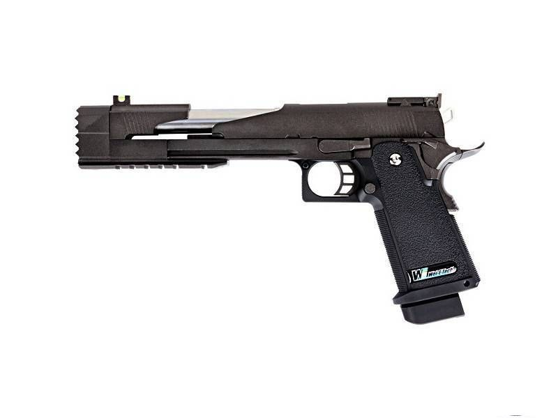 WE Hi-Capa 7.0 noir Dragon A Noir GAZ Blowback 0.9J airsoft