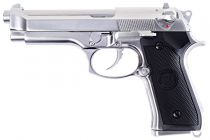 WE M92 Full Metal Chrome Gaz Blowback