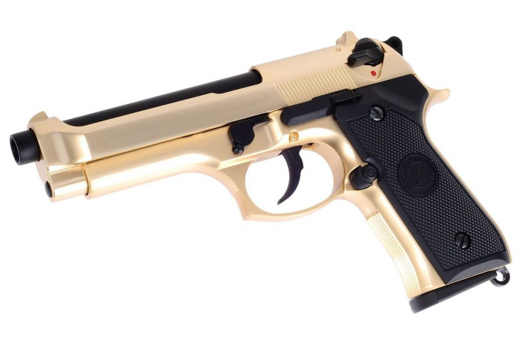 WE M92 Full Metal Gold Gaz Blowback
