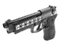 WE M92 Hex Cut Dual Tone Full Metal Gaz Blowback avec rail