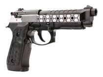 WE M92 Hex Cut Dual Tone Full Metal Gaz Blowback avec rail