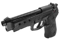 WE M92 Hex Cut Noir Full Metal Gaz Blowback avec rail