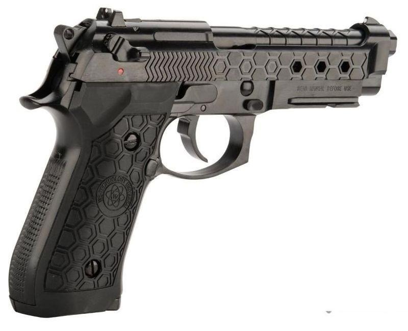 WE M92 Hex Cut Noir Full Metal Gaz Blowback avec rail