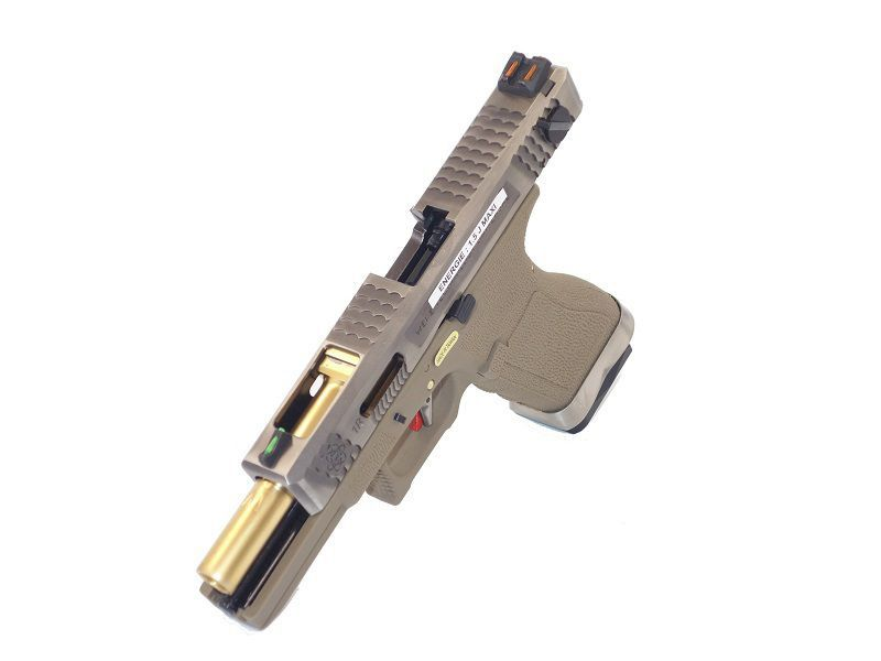 WE S18C G-FORCE T4 METAL ET NYLON BLOWBACK ARGENT/OR/TAN