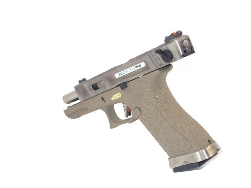 WE S18C G-FORCE T8 METAL ET NYLON BLOWBACK ARGENT/ARGENT/TAN