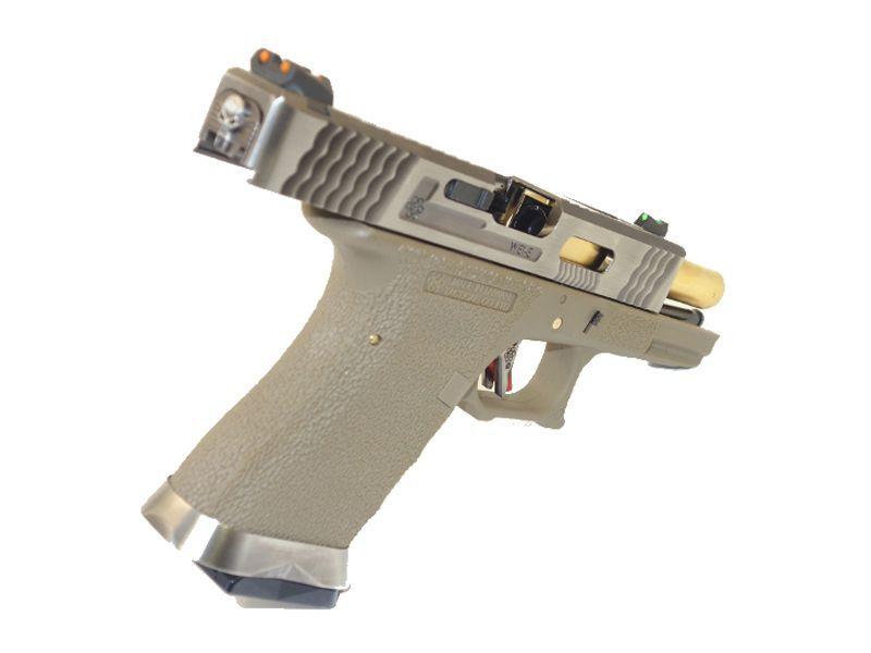 WE S19 G-FORCE T4 METAL ET NYLON BLOWBACK ARGENT/OR/TAN