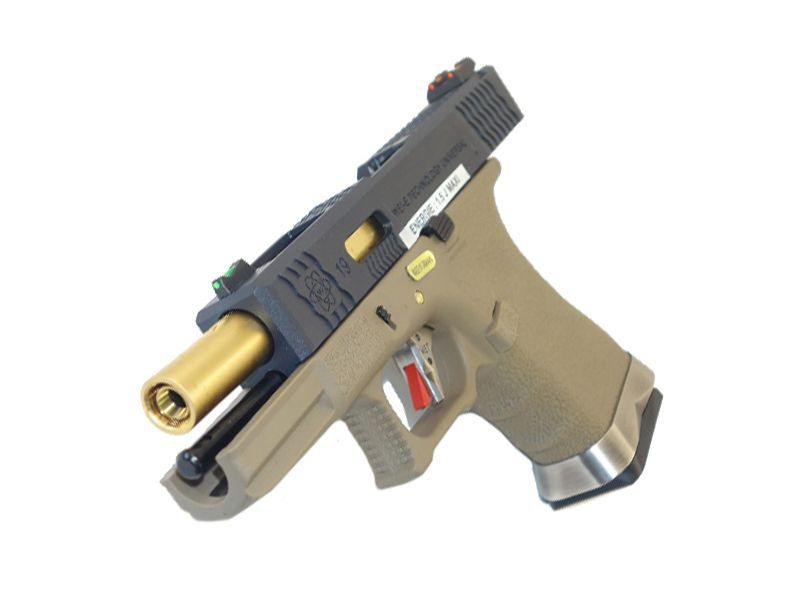 WE S19 G-FORCE T6 METAL ET NYLON BLOWBACK NOIR/OR/TAN