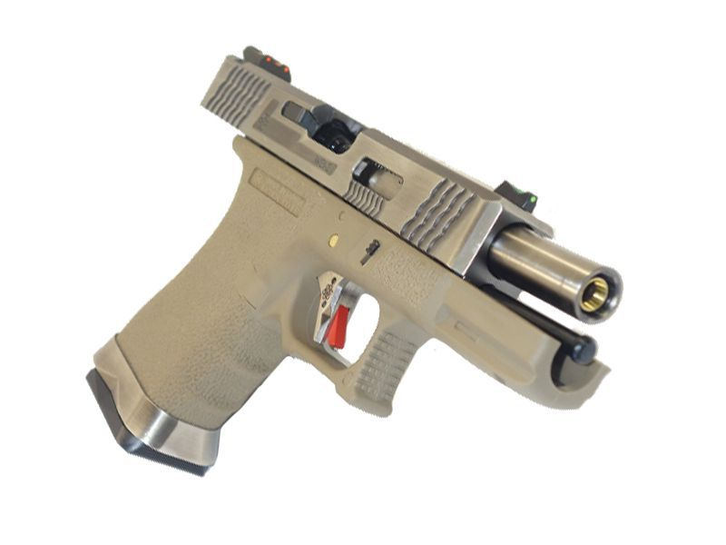 WE S19 G-FORCE T8 METAL ET NYLON BLOWBACK ARGENT/ARGENT/TAN